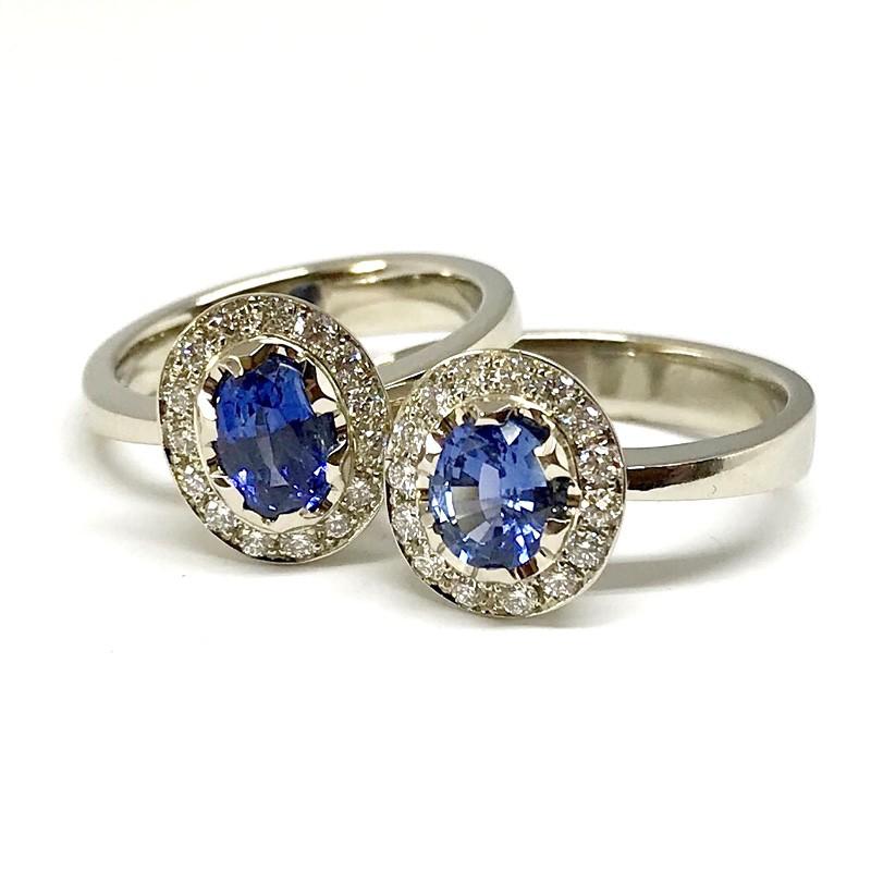 """Moteriškas žiedas """"Mėlynoji gėlė"""""""