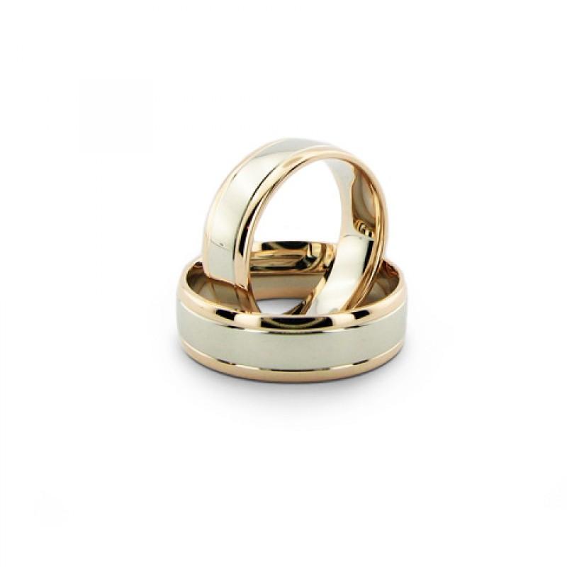"""Vestuviniai žiedai """"Ramybė 2"""", jam ir jai"""