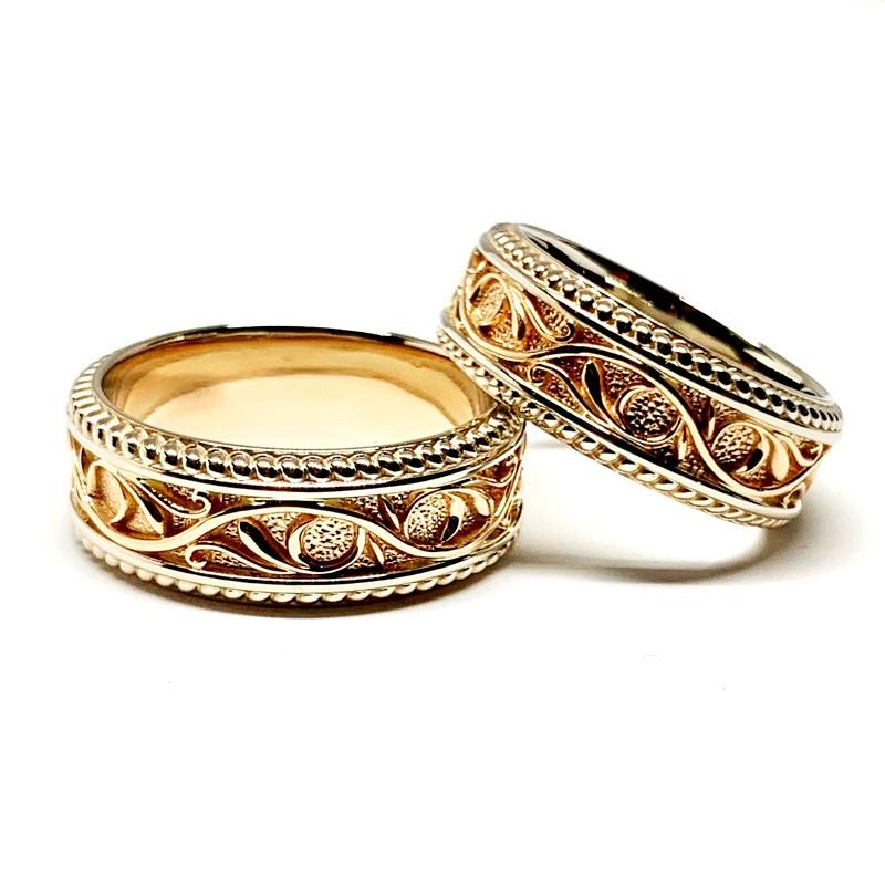 """Vestuviniai žiedai """"Ornamentas"""""""