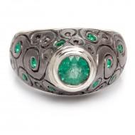 """Moteriškas žiedas """"Pasaka apie Smaragdą"""""""