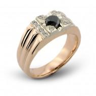"""Vyriškas žiedas """"Juodasis deimantas"""""""