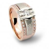 """Vyriškas žiedas """"Olimpas"""", su briliantais"""