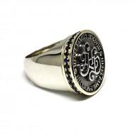 Vyriškas žiedas su monograma